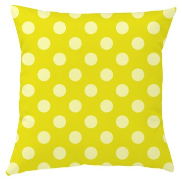 Yellow Polka Dot Throw Pillow Covers
