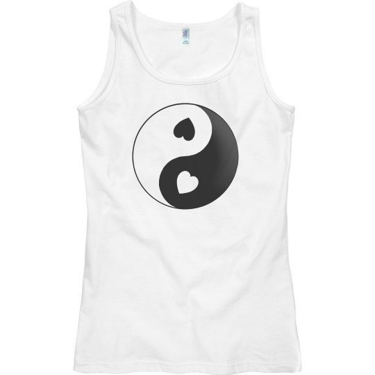 Yin Yang Love Hearts Top
