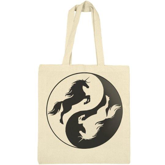 Yin Yang Unicorn Bag
