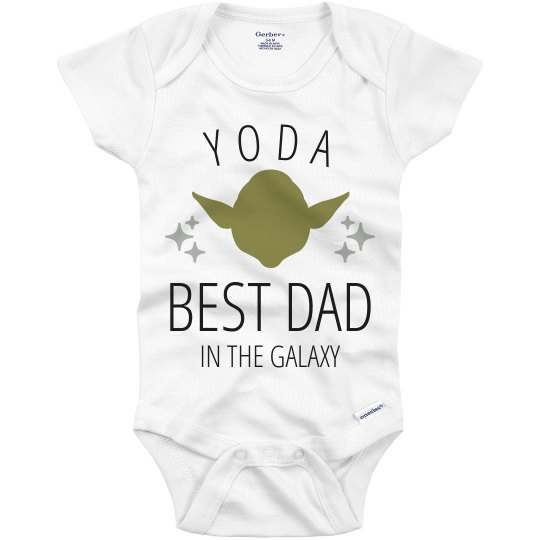 Yoda Best Day Father's Day Gift From Baby