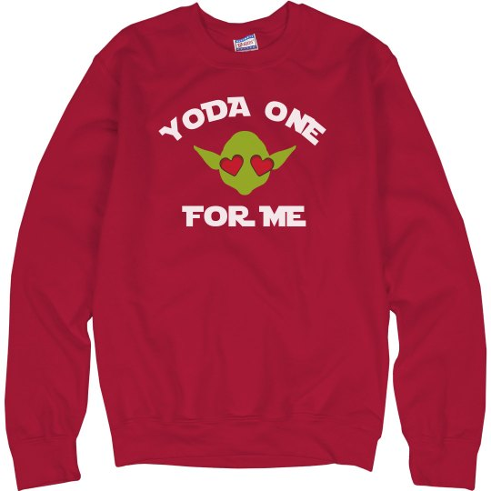 Yoda One For Me Valentine Sweater
