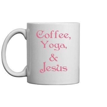 Yoga & Jesus Coffee Cup