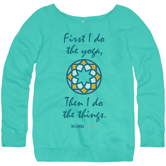 Yoga First - Wide Neck Sweatshirt