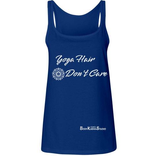 Yoga Hair Don't Care Logo Tank