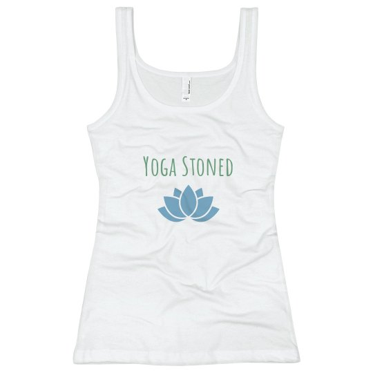 Yoga stoned fitted tank