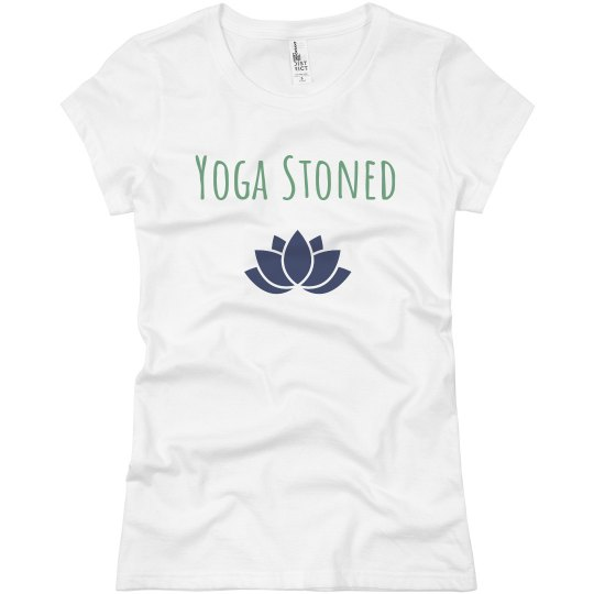 Yoga Stoned jersey tee