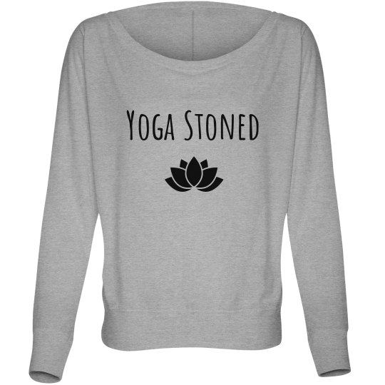 "Yoga Stoned ""Off the shoulder"" long sleeve tee"