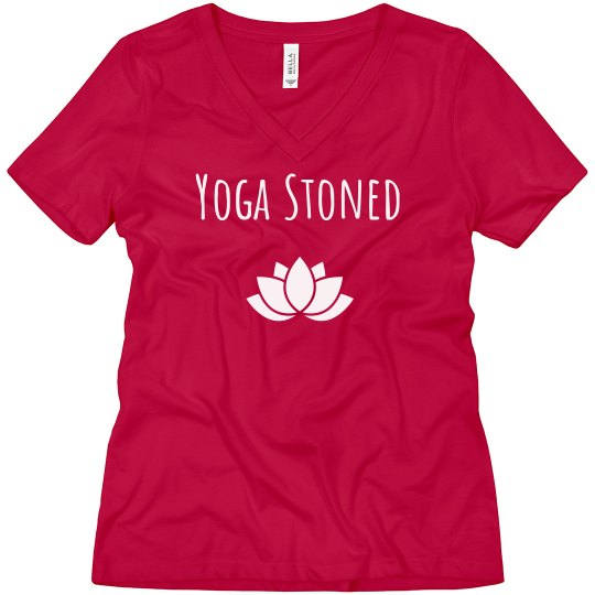 Yoga Stoned V-neck jersey tee