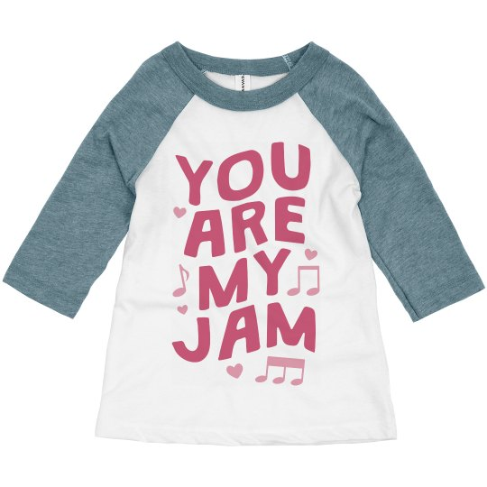 You Are My Jam Valentine's Day Toddler Raglan