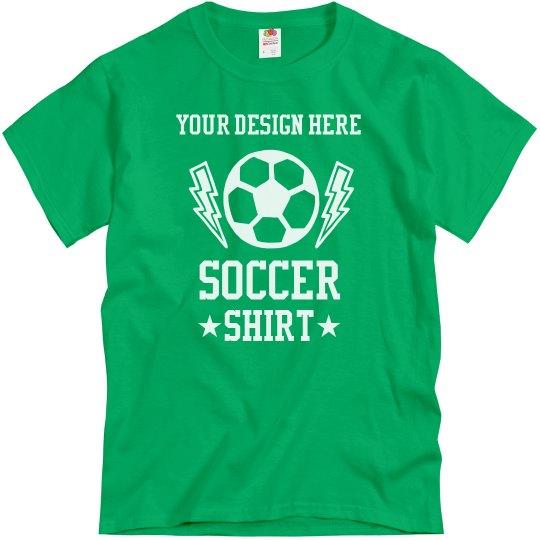 Your Design Custom Soccer T-Shirt