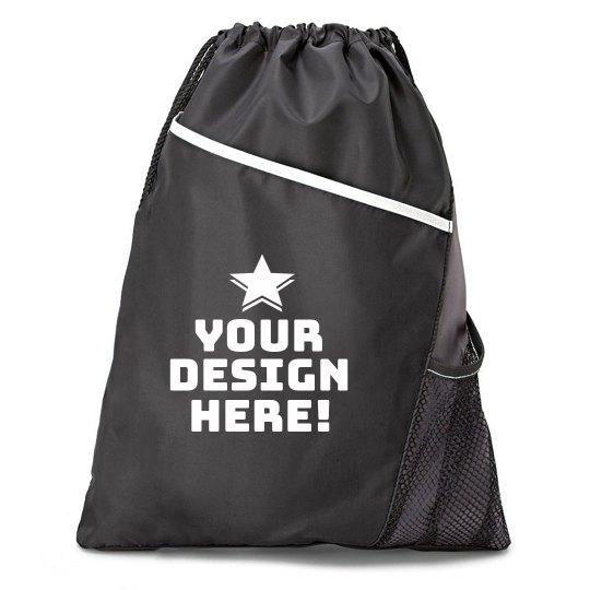 Your Design Custom Star Drawstring Bag
