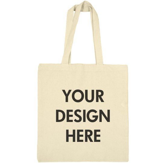 Your Design Here Canvas Tote Bag