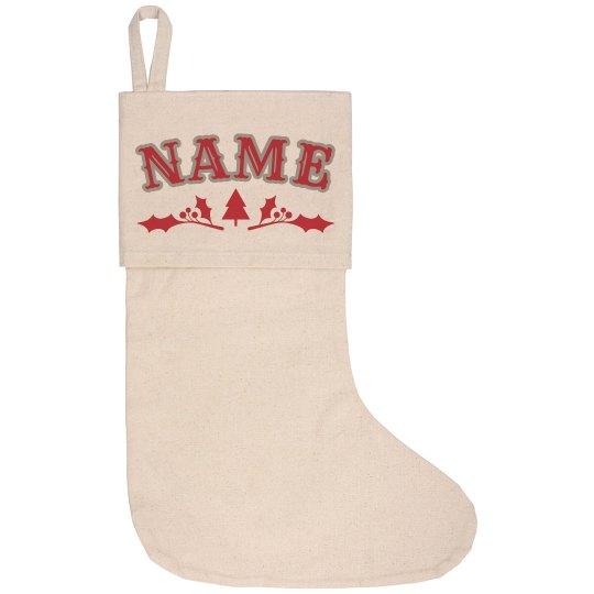 Your Name Custom Tree Stocking