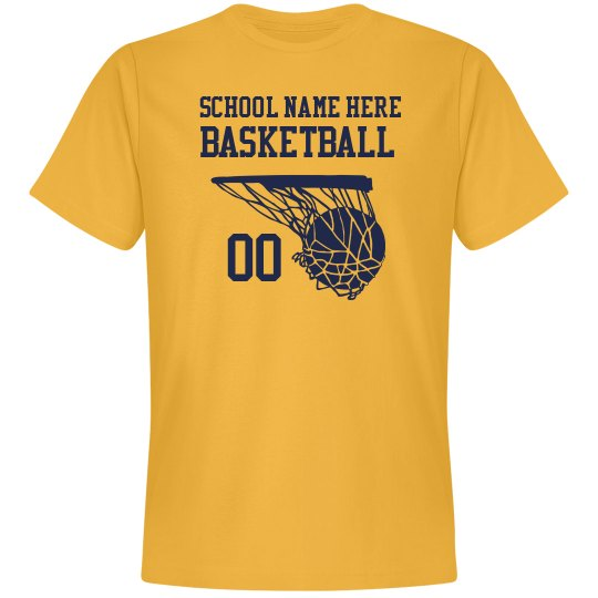 Your School Name, Number, Basketball Shirt