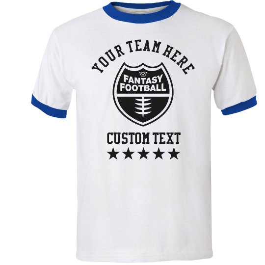 Your Team Name Text Fantasy Football T-Shirt