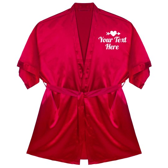 Your Text Heart Night Robe