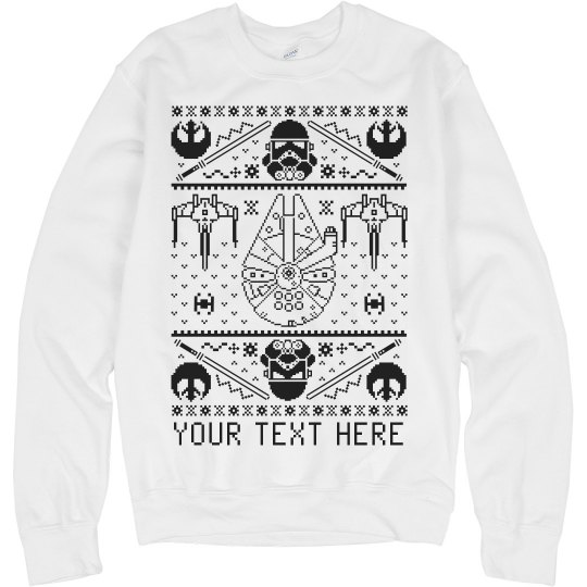 Your Text In Space Custom Sweater