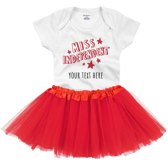 Your Text Miss Independent Onesie