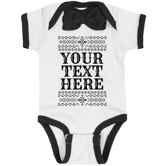 Your Text Ugly Sweater Pattern Bodysuit