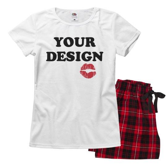 Your Text Valentine Custom Pajamas