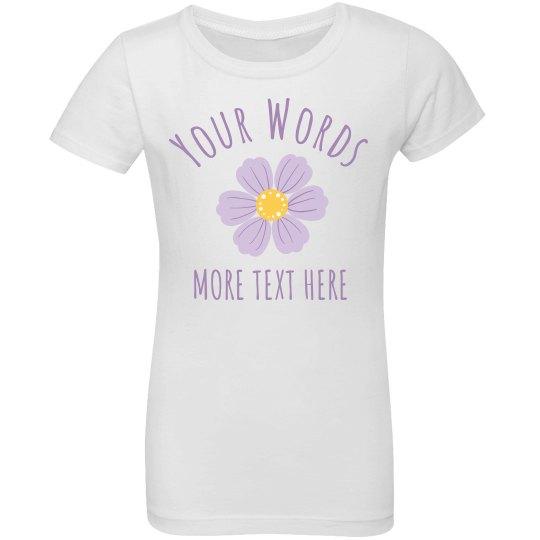 Your Words Custom Kids Shirt