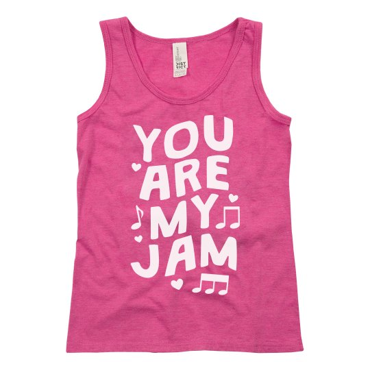 You're My Jam Kid's Valentine's Day Tank