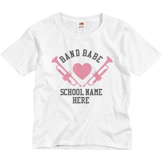 Youth Band Babe Custom School Tee