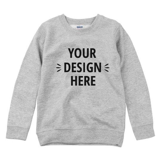 Youth Basic Custom Sweatshirt
