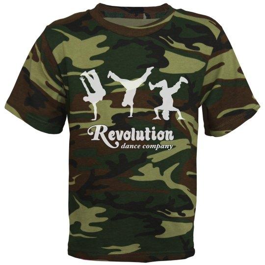 Youth Camo Hip Hop Shirt