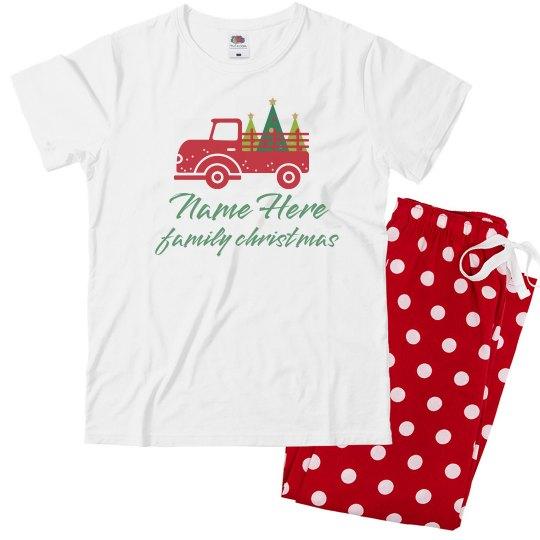 Youth Christmas Truck Pajamas