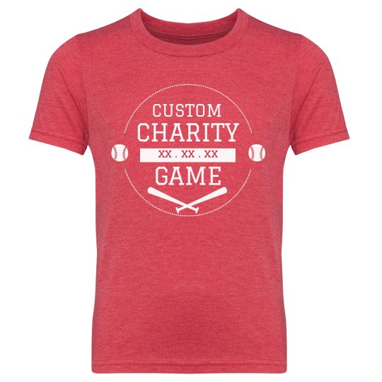 Youth Custom Charity Game Tees