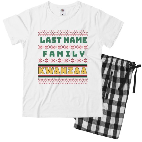 Youth Custom Family Kwanzaa Jammies