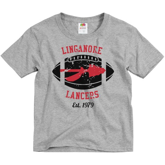 youth Distressed Linganore Lancers Football and Spear