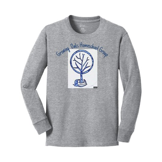 Youth front acorn tree long sleeve no years