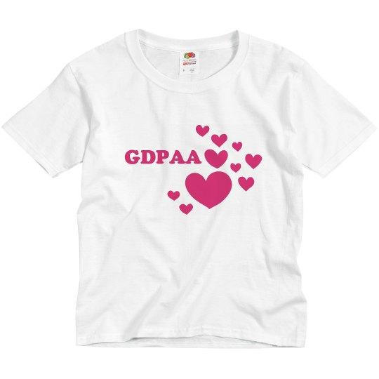 Youth GDPAA hearts t-shirt