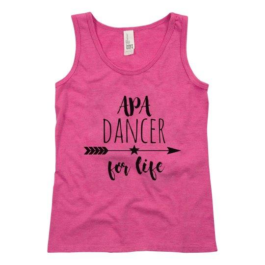 Youth Girls APA Dancer for Life Tank