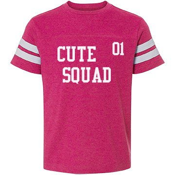 "Youth Girls T Shirt ""Cute Squad"""
