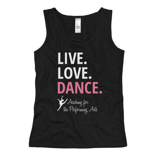 Youth Live Love Dance Tank APA