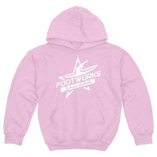 Youth Pink Footworks Hoodie