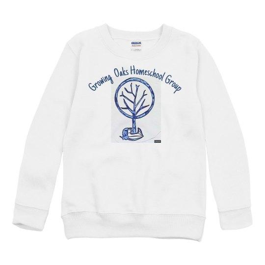 Youth Sweatshirt Front acorn tree