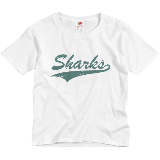 Youth Tee - Sharks Script