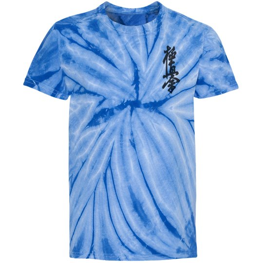 Youth Tie Dye Shirt with Kanji and Logo