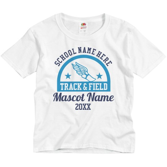 Youth Track & Field Mascot Top
