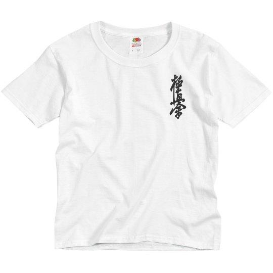 Youth Traditional Shirt with Kanji and Logo