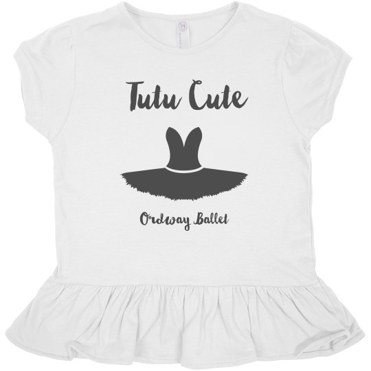 Youth Tutu Cute Ruffle Shirt
