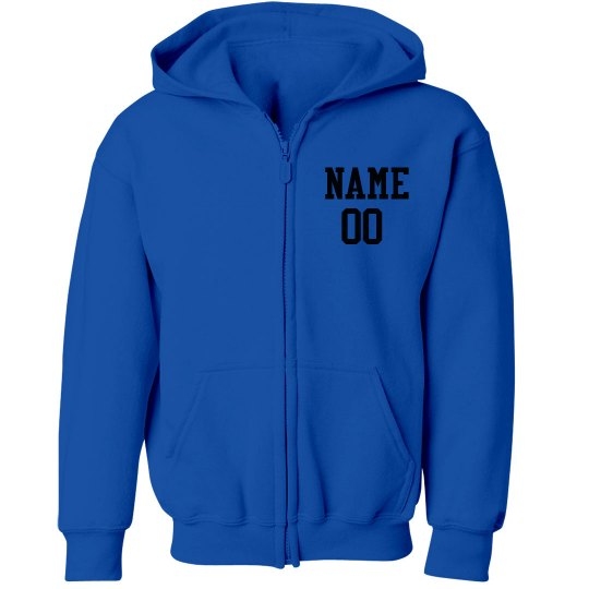 Youth Zip Front Hoodie - Color Logo