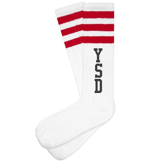 YSD RED Tube Socks