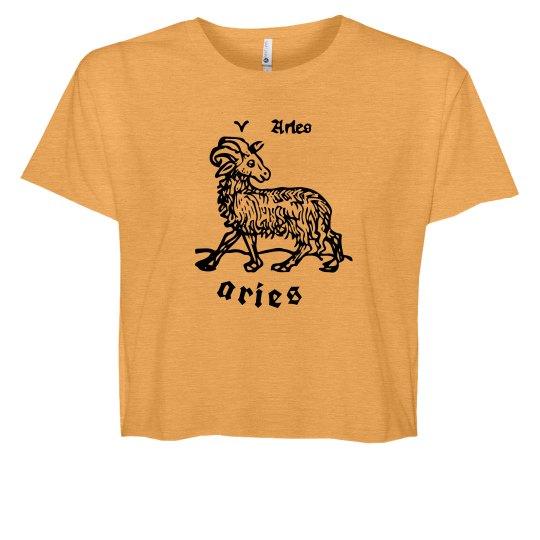 Zodiac Aries Custom Crop