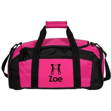 Zoe. Cheerleader bag