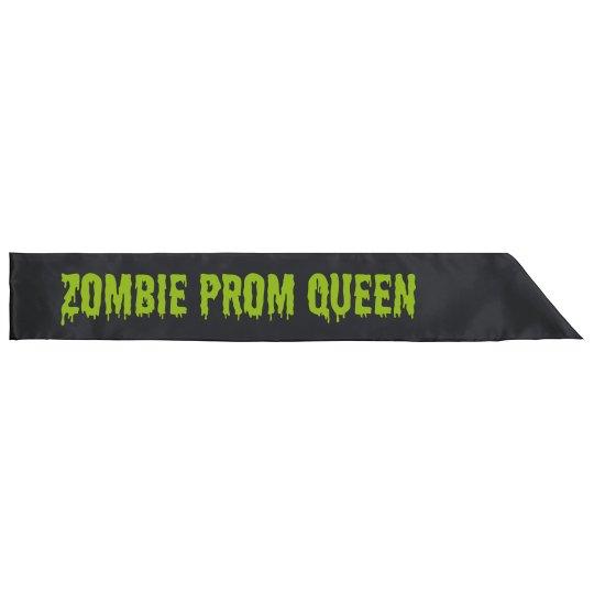 Zombie Prom Queen Sash